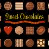 バレンタインデー用の小粒でおしゃれなチョコレート